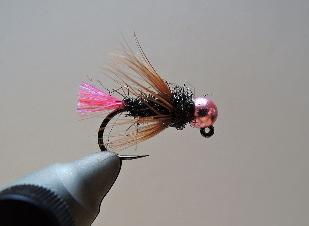 AR Pink Tag Green Peacock Jig